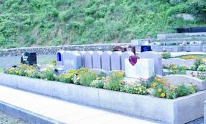 八王子高尾「手積みレンガの花壇墓地」花ごころの画像