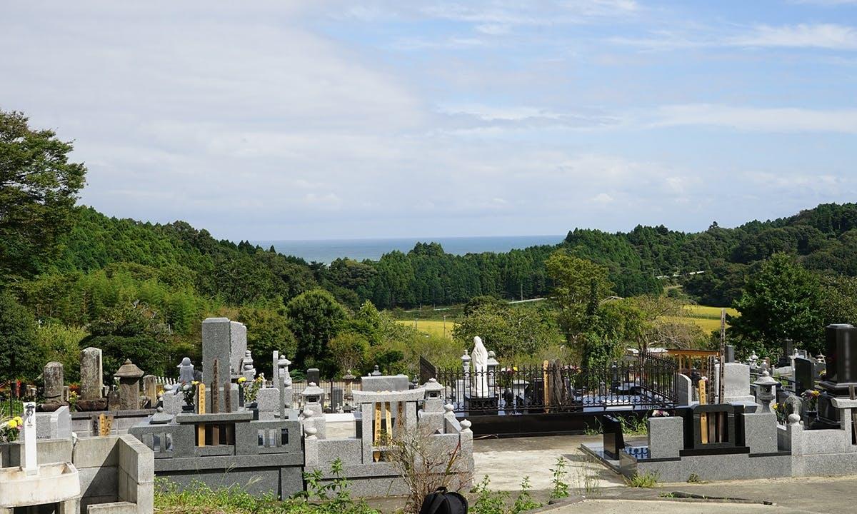 いわき市 海の見える丘の樹木葬